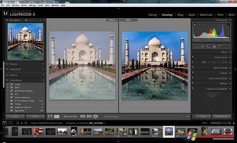 Posnetek zaslona Adobe Photoshop Lightroom Windows XP