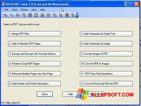 Posnetek zaslona Pdf995 Windows XP