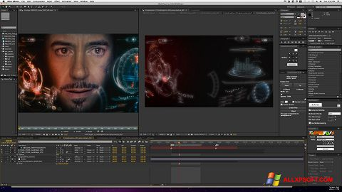 Posnetek zaslona Adobe After Effects Windows XP