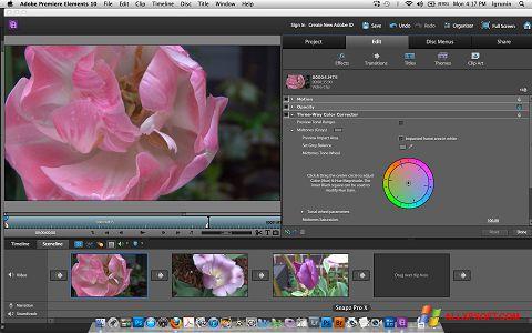 Posnetek zaslona Adobe Premiere Elements Windows XP