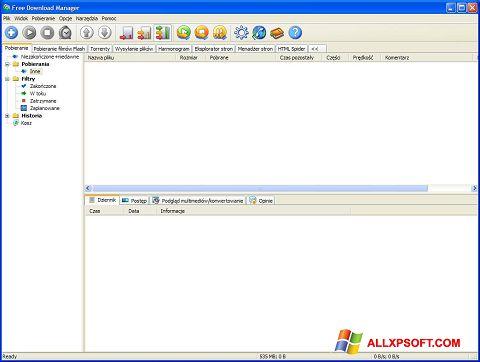 Posnetek zaslona Free Download Manager Windows XP