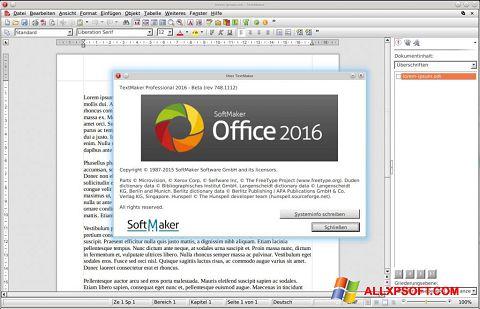 Posnetek zaslona SoftMaker Office Windows XP