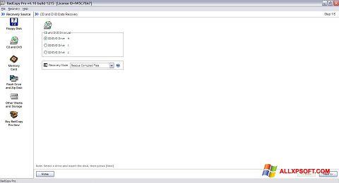 Posnetek zaslona BadCopy Pro Windows XP