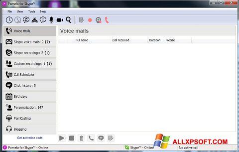 Posnetek zaslona Pamela for Skype Windows XP