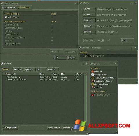 Posnetek zaslona Steam Windows XP