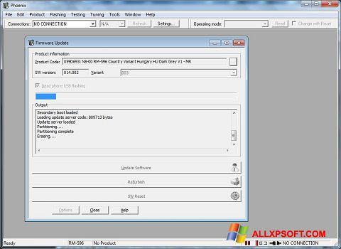 Posnetek zaslona Phoenix Windows XP