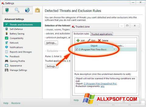 Posnetek zaslona Time Boss Windows XP