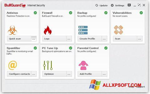 Posnetek zaslona BullGuard Windows XP