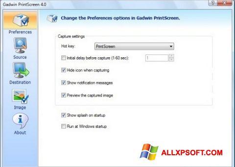 Posnetek zaslona Gadwin PrintScreen Windows XP