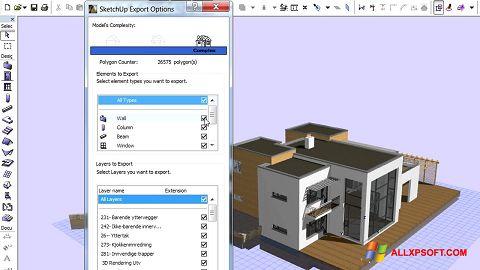 Posnetek zaslona ArchiCAD Windows XP