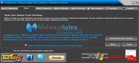Posnetek zaslona Windows Repair Windows XP