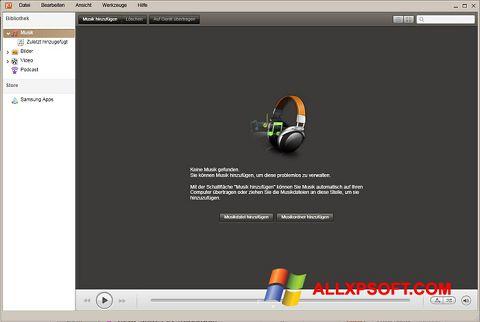 Posnetek zaslona Samsung Kies Windows XP