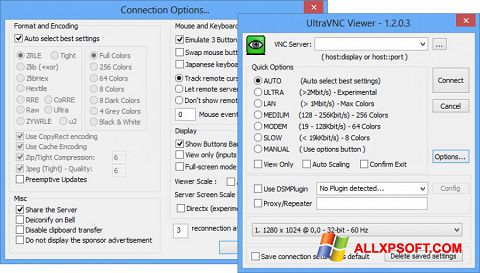 Posnetek zaslona UltraVNC Windows XP