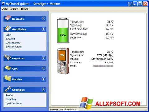 Posnetek zaslona MyPhoneExplorer Windows XP