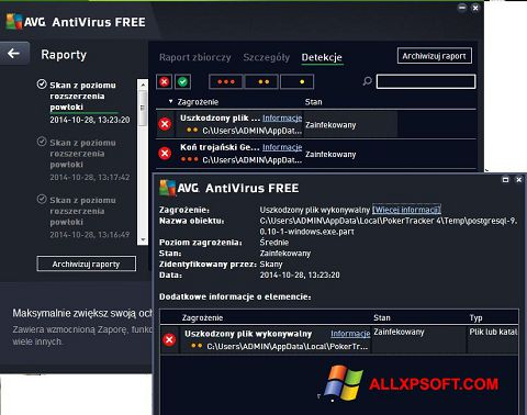 Posnetek zaslona AVG AntiVirus Free Windows XP