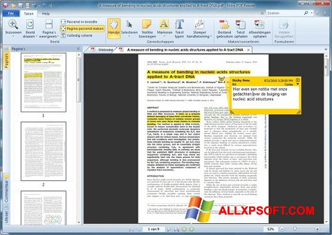 Posnetek zaslona Nitro PDF Reader Windows XP
