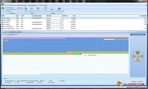 Posnetek zaslona PerfectDisk Windows XP
