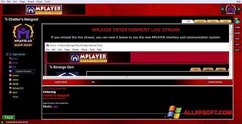 Posnetek zaslona MPlayer Windows XP