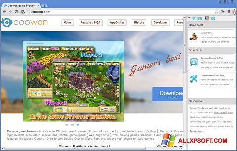 Posnetek zaslona Coowon Browser Windows XP