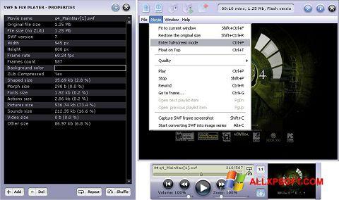Posnetek zaslona FLV Player Windows XP