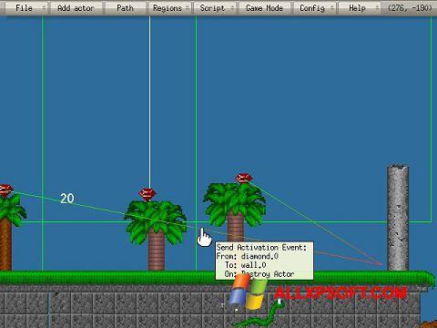 Posnetek zaslona Game Editor Windows XP