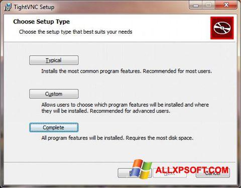 Posnetek zaslona TightVNC Windows XP