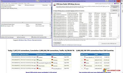 Posnetek zaslona VPN Gate Windows XP