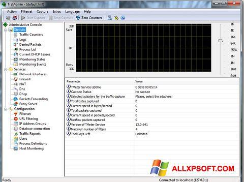 Posnetek zaslona TMeter Windows XP