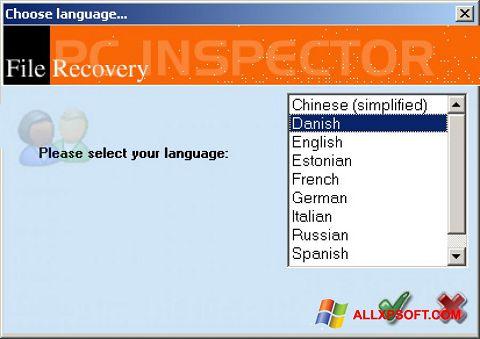 Posnetek zaslona PC Inspector File Recovery Windows XP