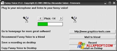Posnetek zaslona Funny Voice Windows XP