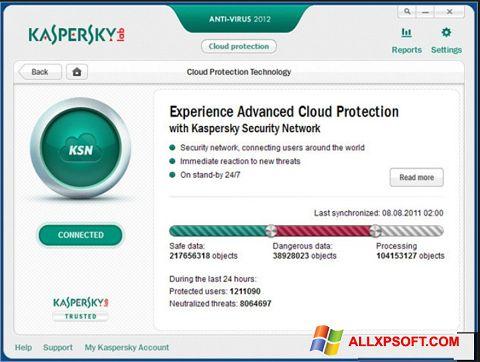 Posnetek zaslona Kaspersky Windows XP