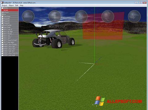 Posnetek zaslona 3D Rad Windows XP