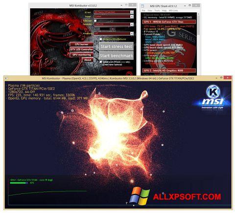 Posnetek zaslona MSI Kombustor Windows XP