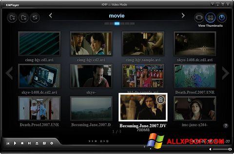 Posnetek zaslona KMPlayer Windows XP
