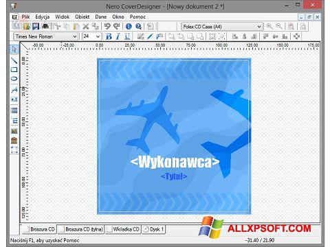 Posnetek zaslona Nero Cover Designer Windows XP