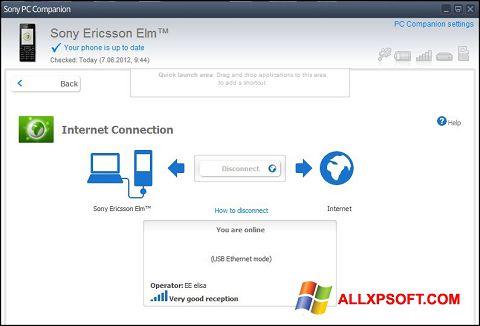 Posnetek zaslona Sony PC Companion Windows XP