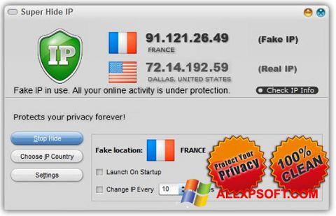 Posnetek zaslona Super Hide IP Windows XP