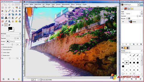 Posnetek zaslona GIMP Windows XP
