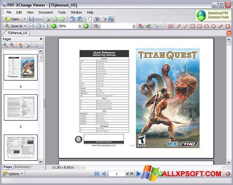 Posnetek zaslona PDF-XChange Viewer Windows XP