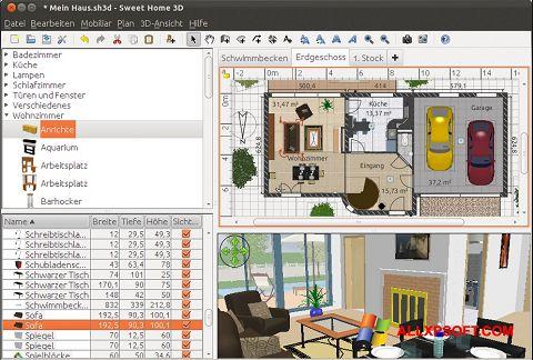 Posnetek zaslona Sweet Home 3D Windows XP