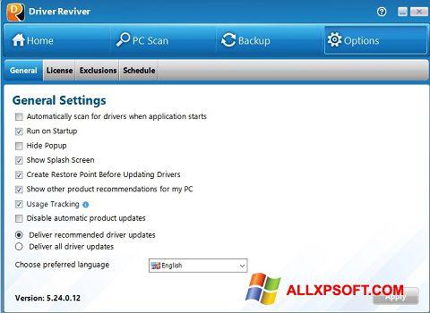 Posnetek zaslona Driver Reviver Windows XP