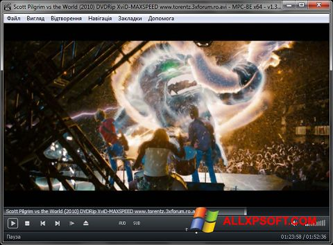 Posnetek zaslona MPC-BE Windows XP