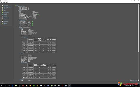 Posnetek zaslona Speccy Windows XP