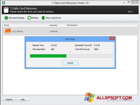 Posnetek zaslona CardRecovery Windows XP