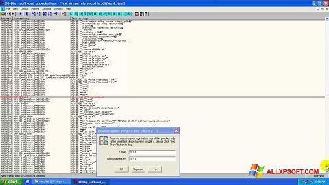 Posnetek zaslona PDF2Word Windows XP