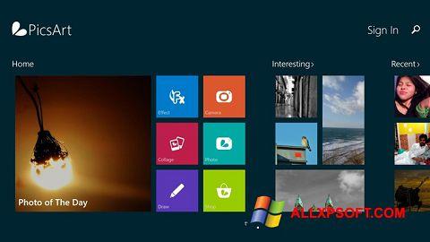 Posnetek zaslona PicsArt Windows XP