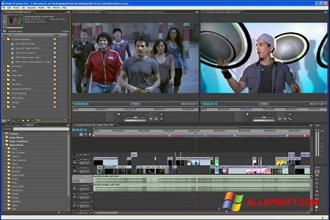 Posnetek zaslona Adobe Premiere Pro Windows XP