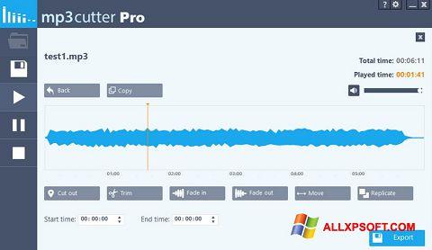 Posnetek zaslona MP3 Cutter Windows XP