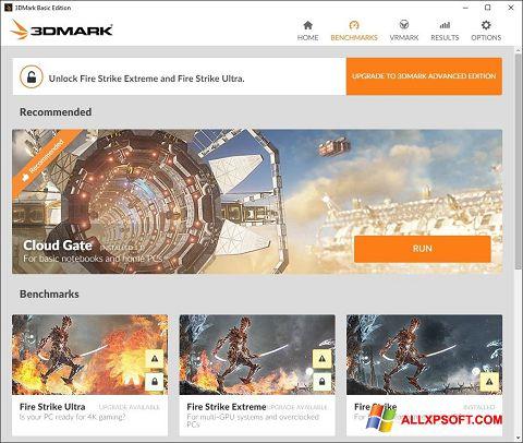Posnetek zaslona 3DMark Windows XP