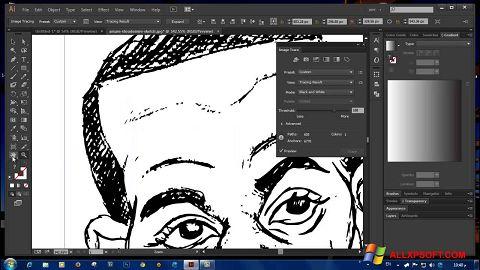 Posnetek zaslona Adobe Illustrator CC Windows XP